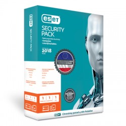 Przedłużenie licencji ESET Security Pack 1+1 na 1 rok (1 komputer + 1 smartfon)
