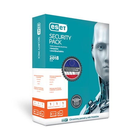 Przedłużenie licencji ESET Security Pack 1+1 na 3 lata (1 komputer + 1 smartfon)